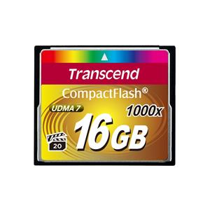 Transcend Compact Flash CF 1000X 16GB